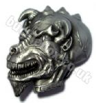 3D DEMON DOG Belt Buckle + display stand